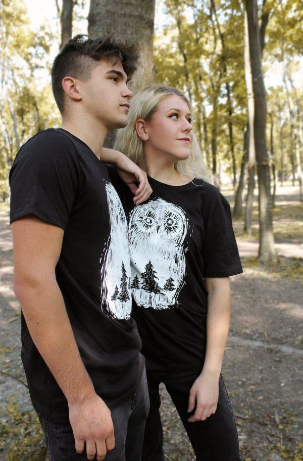 Unisex organické tričko Sova lesná