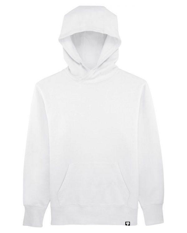 Unisex organická mikina Lowearth biela front